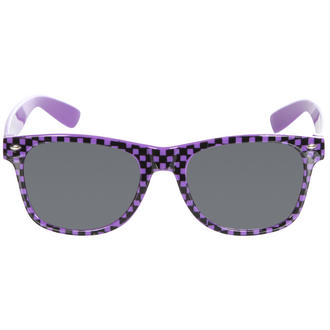 View Item Purple Checkered Wayfarer Sunglasses